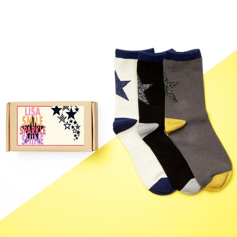 Personalised 'Shine Like A Star' Sock Box