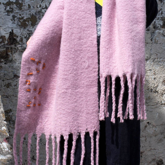 Personalised Chunky Knitted Blanket Scarf