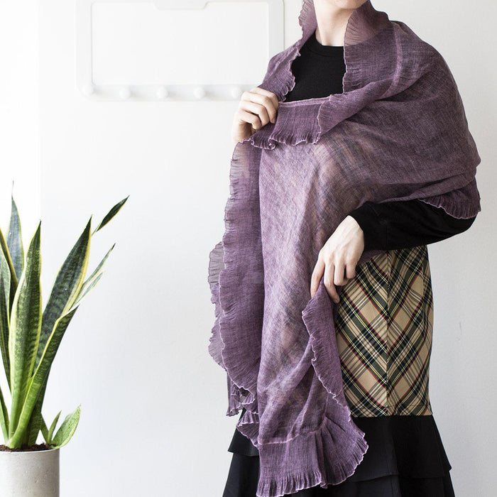 Pleated Gauze Scarf