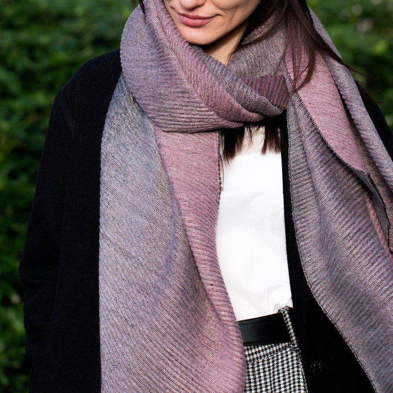 Personalised Pleated Ombre Scarf