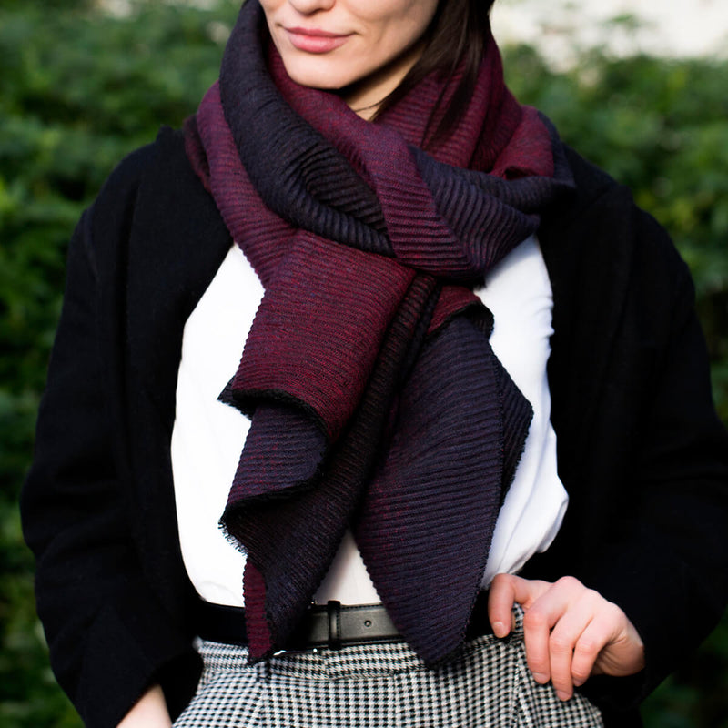 pleated-ombre-scarf