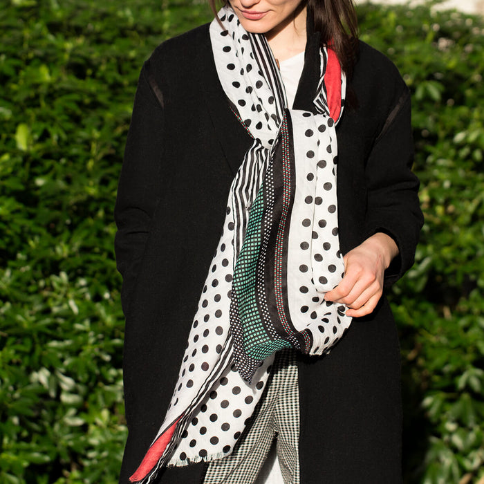 Polka Dots and Stripes Scarf