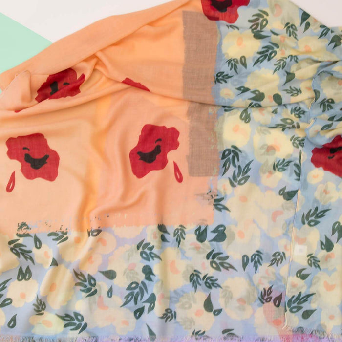 Summer Poppies Scarf