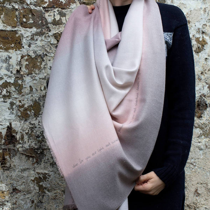 Personalised Cashmere Blend Gradient Scarf