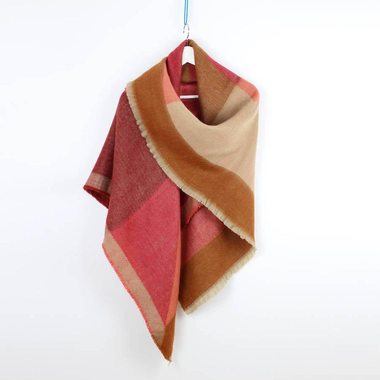 Autumn Geometry Oversized Scarf