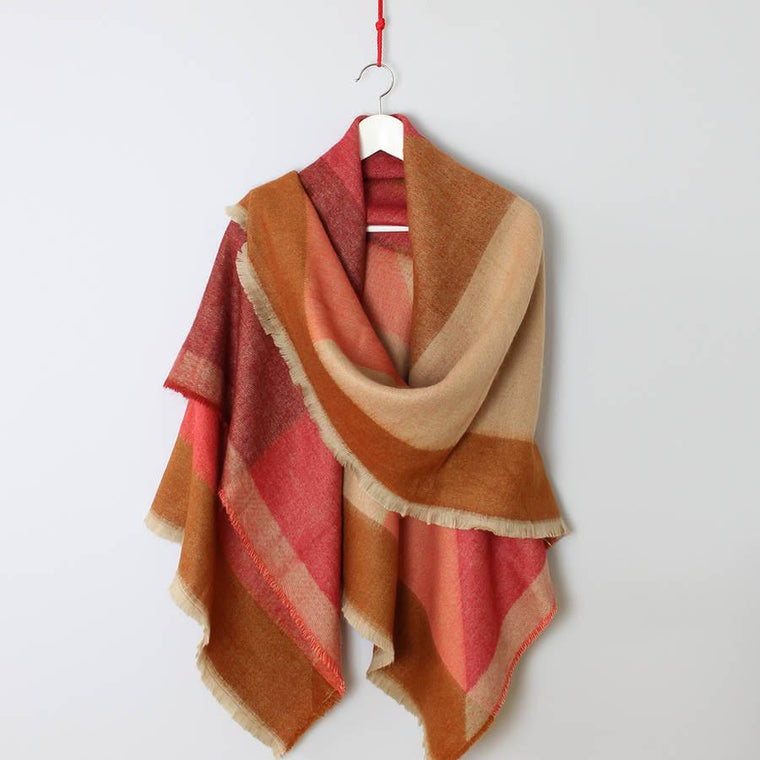 Scarf - Autumn Geometry Oversized Scarf