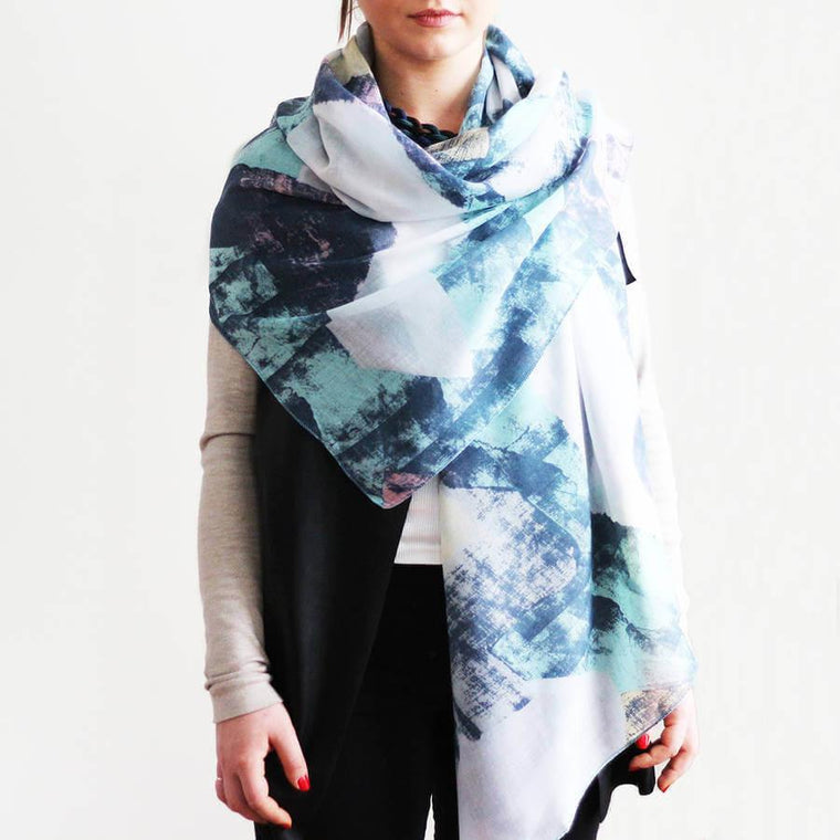 Personalised Abstract Spring Scarf