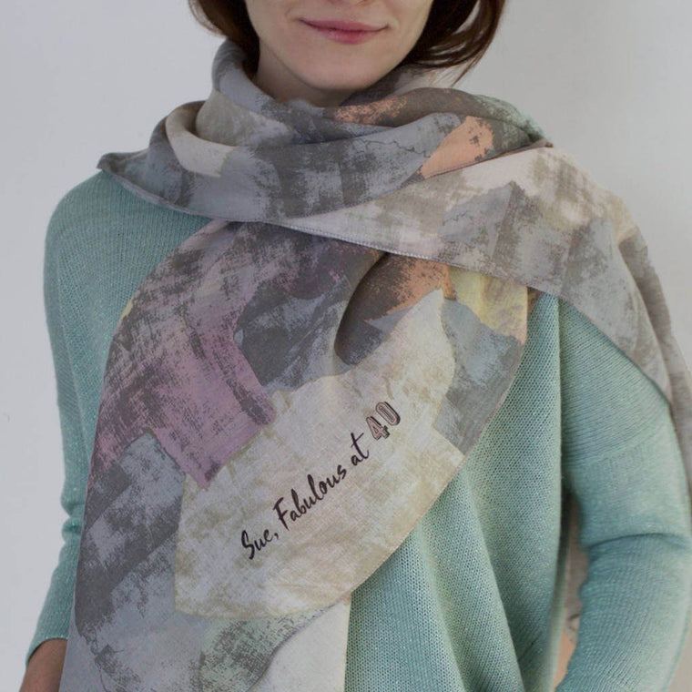 Scarf - Personalised Abstract Spring Scarf