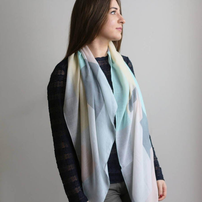 Scarf - Personalised Colour Block Print Scarf