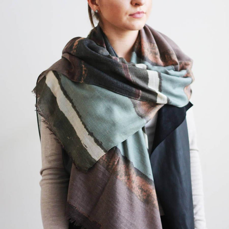 Personalised Muted Ombre Print Scarf