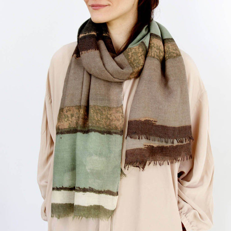 Scarf - Personalised Muted Ombre Print Scarf