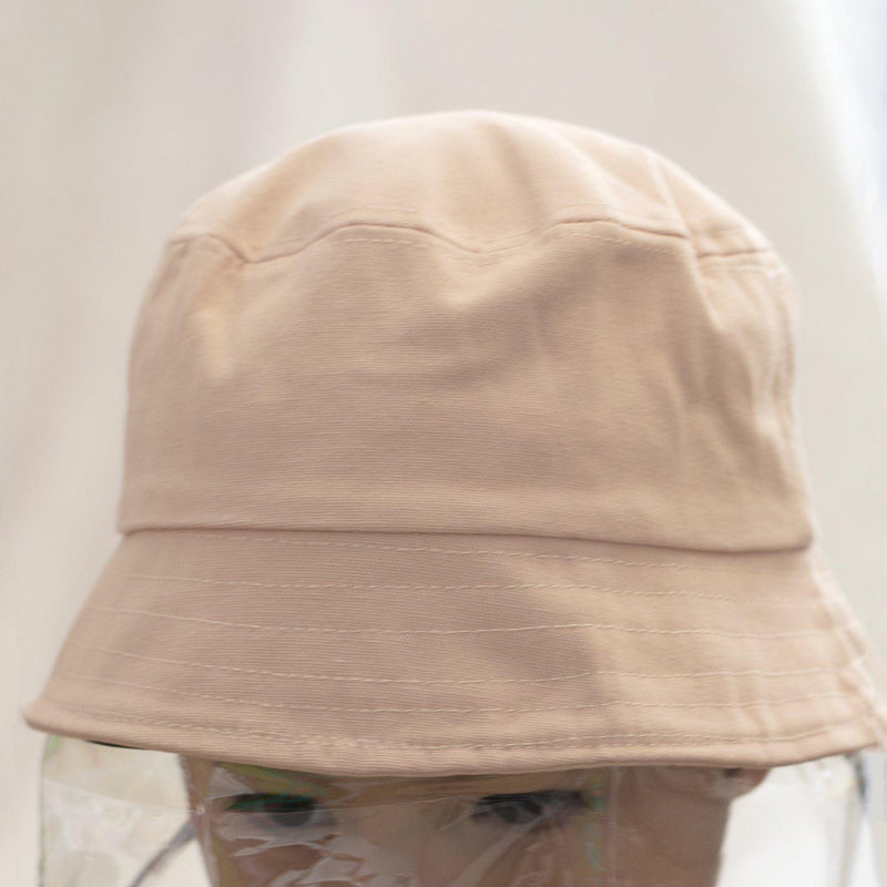 Kids Fisherman Hat With Soft Protective Face Visor-Hat-Studio Hop-Peach-Studio Hop