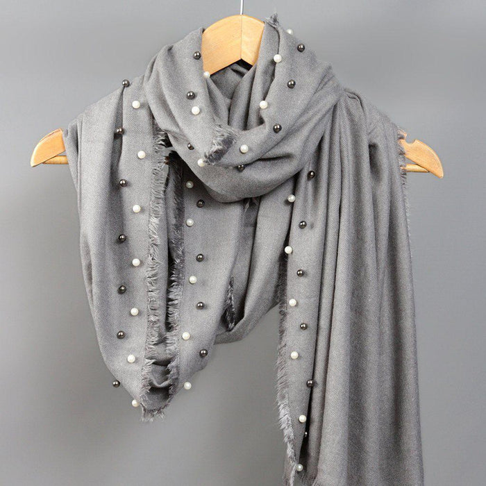 Shawl - Personalised Cashmere And Pearl Shawl