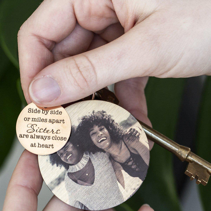 Together in Heart Sisters Compass Keyring