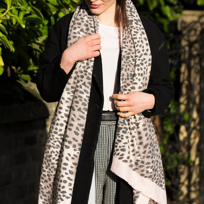 Personalised Cheetah Spot Scarf