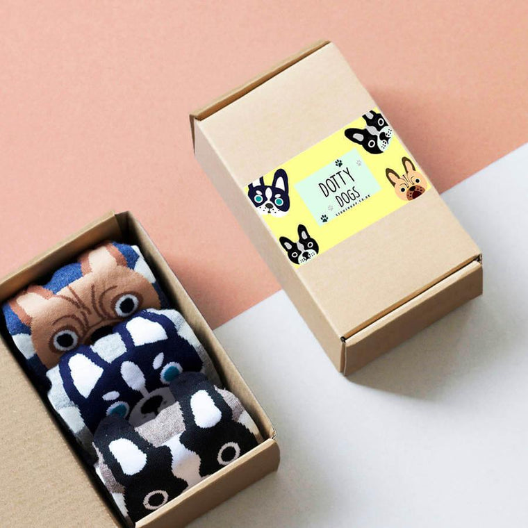 Dotty Dog Socks In A Box
