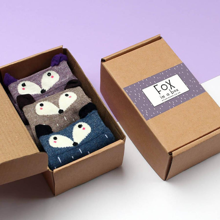 Fox In A Box Socks Gift Set