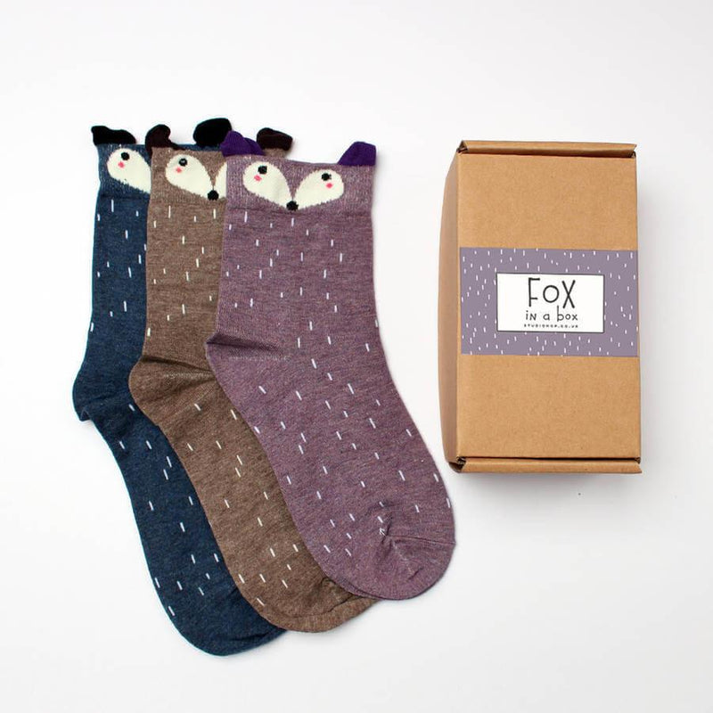 Socks - Fox In A Box Socks Gift Set