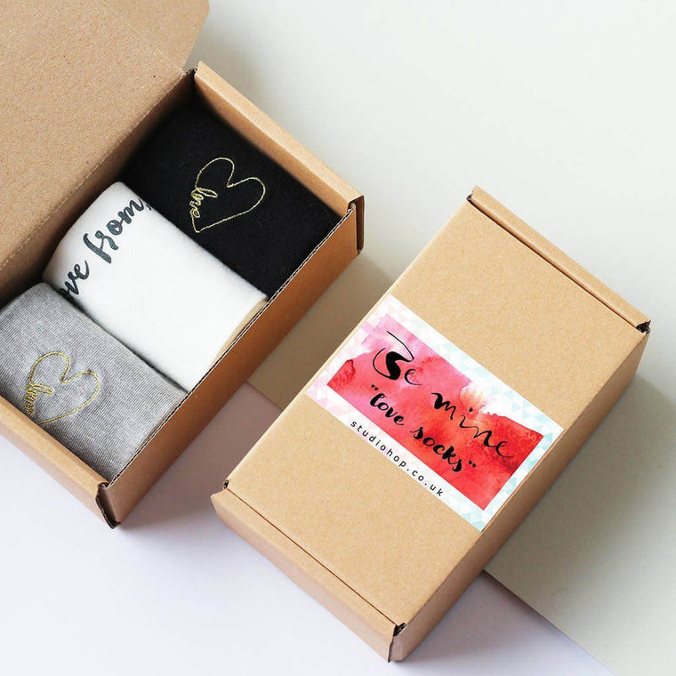 Personalised 'Be Mine' Love Sock Box