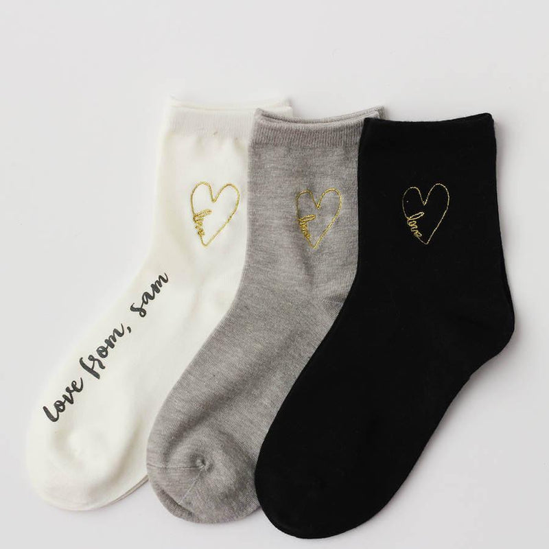 Socks - Personalised 'Be Mine' Love Sock Box