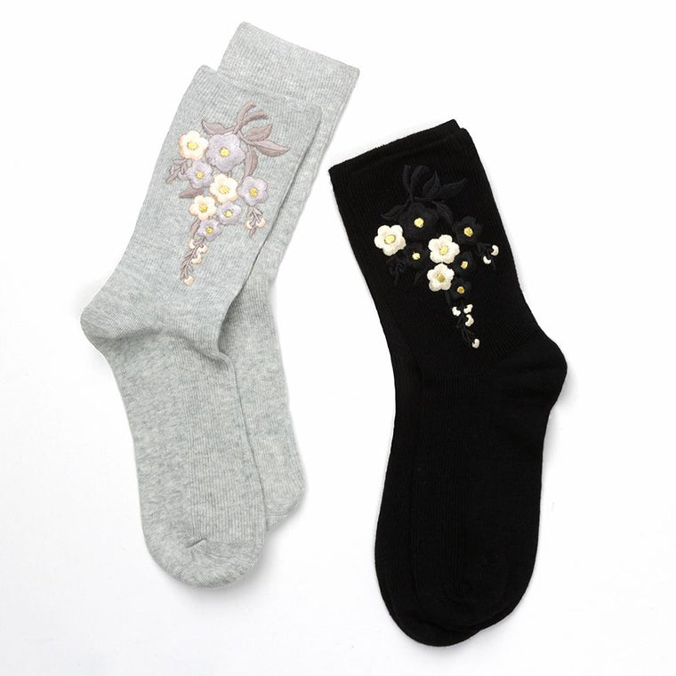 Socks - Personalised Embroidered Flower Socks