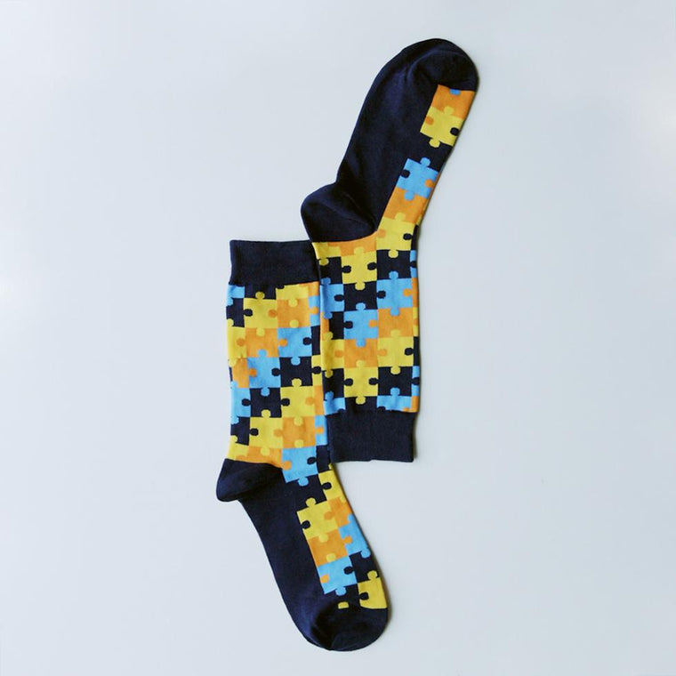 Socks - Personalised Men's Jigsaw Socks
