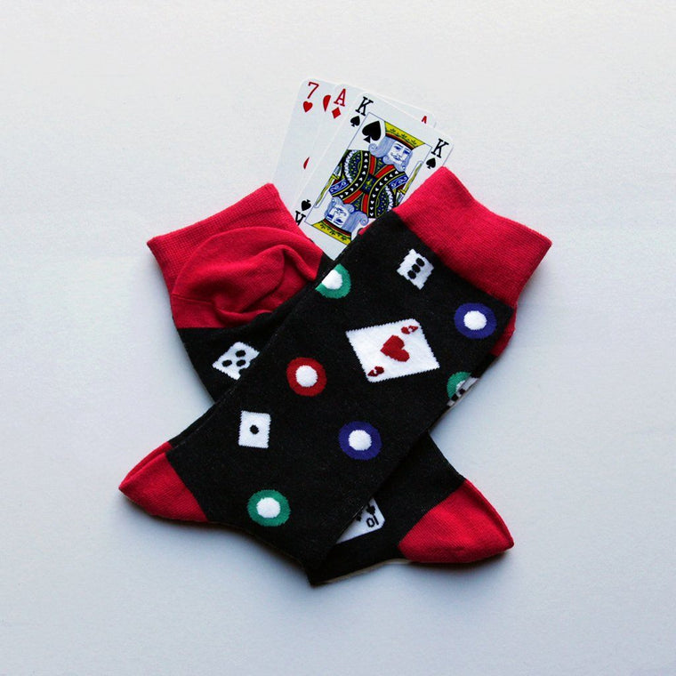 Socks - Personalised  Mens Lucky Gambling Socks