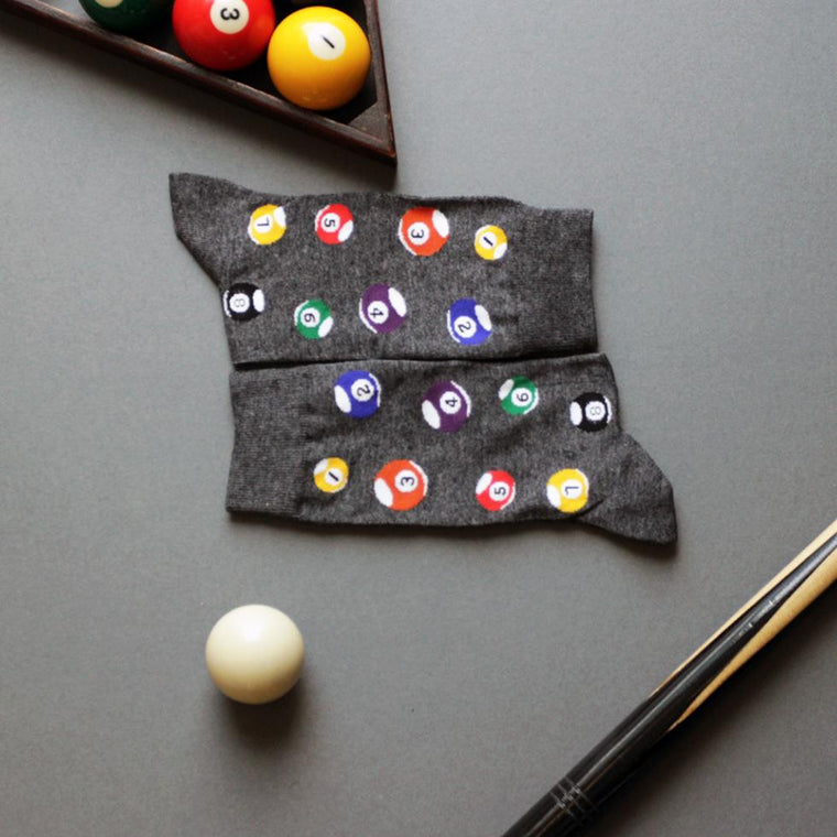 Personalised Men's Pool Ball Socks-Socks-Studio Hop-Studio Hop