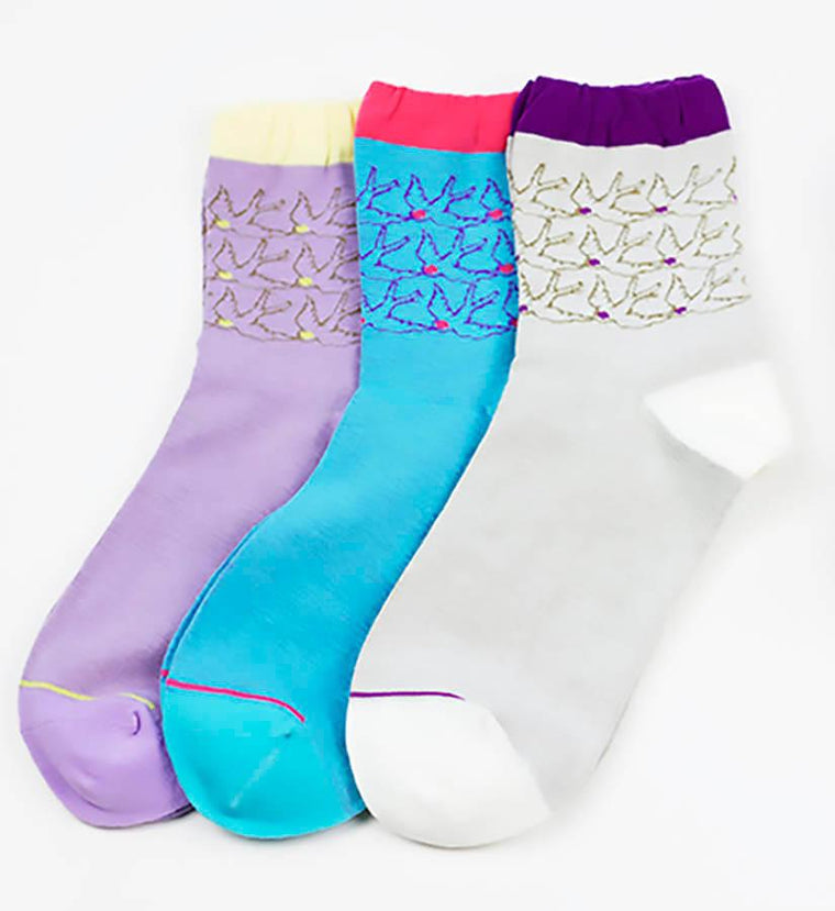 Socks - Set Of Three Swallow Socks In A Gift Box