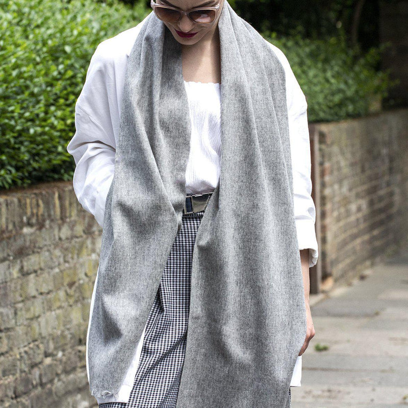 personalised-wool-blend-grey-scarf