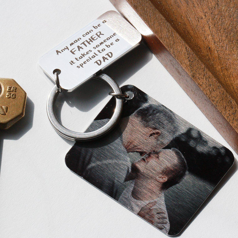 A Special Dad Personalised Photo Keyring
