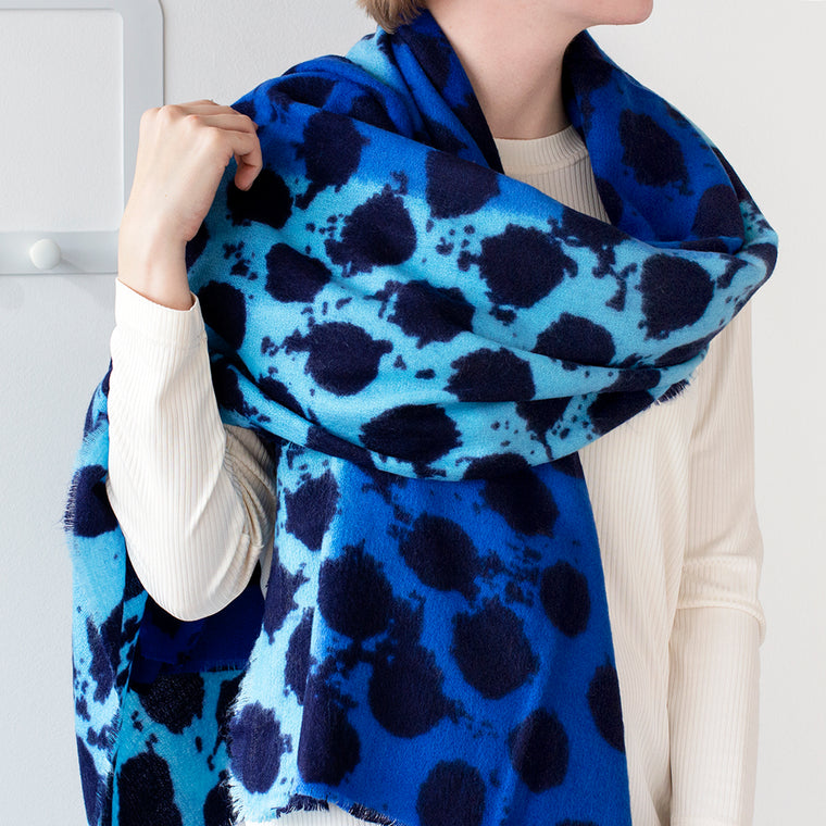 Personalised Two Tone Dots Gauze Scarf