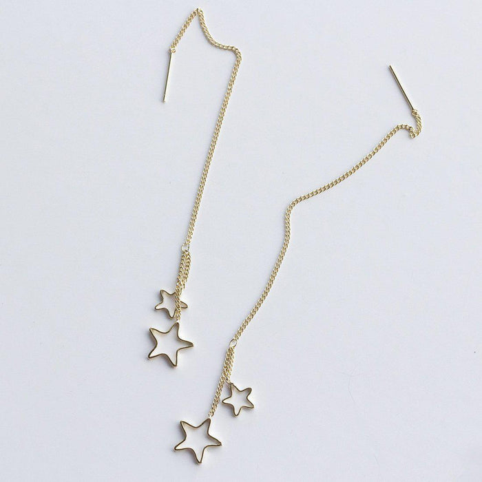 Stars and Strands Long Earrings