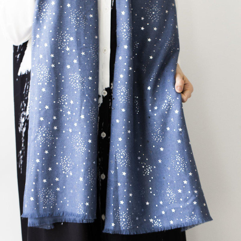 personalised-sparkling-stars-scarf