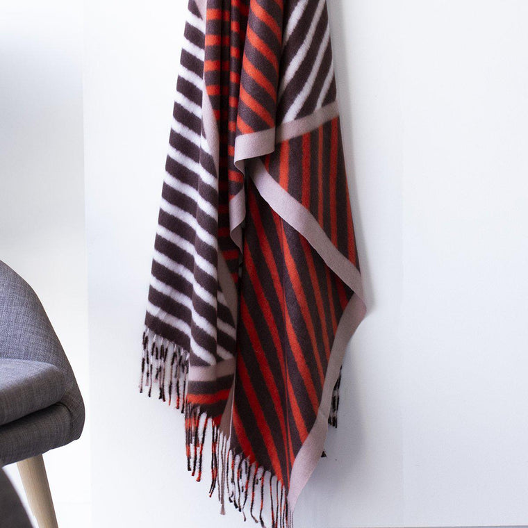 Personalised Brushed Bold Stripes Scarf