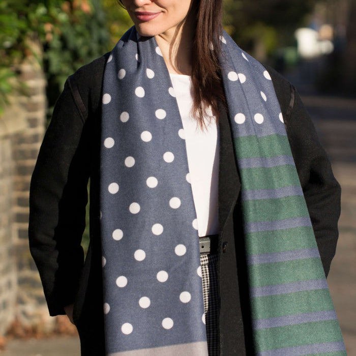 Personalised Spot & Stripe Scarf