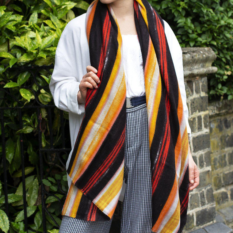 Personalised Brush Stripes Gauze Scarf