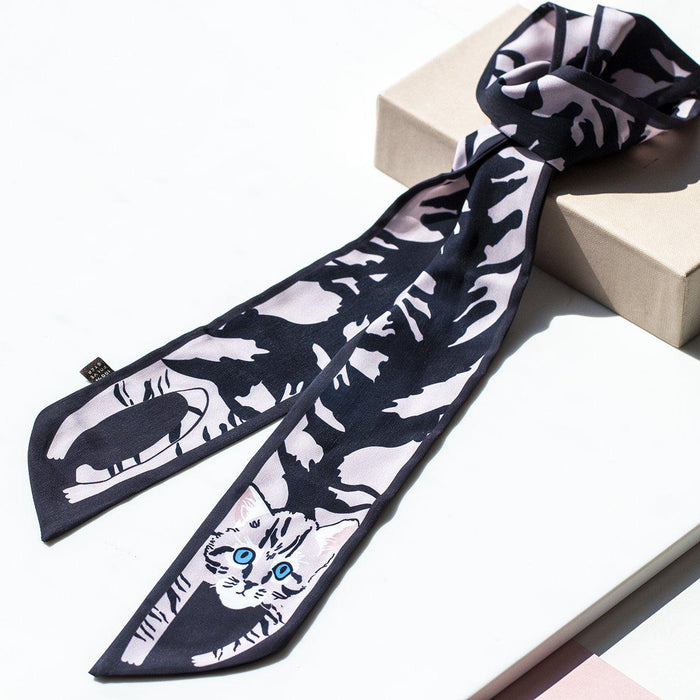 Stretch Cat Ladies Neck Tie