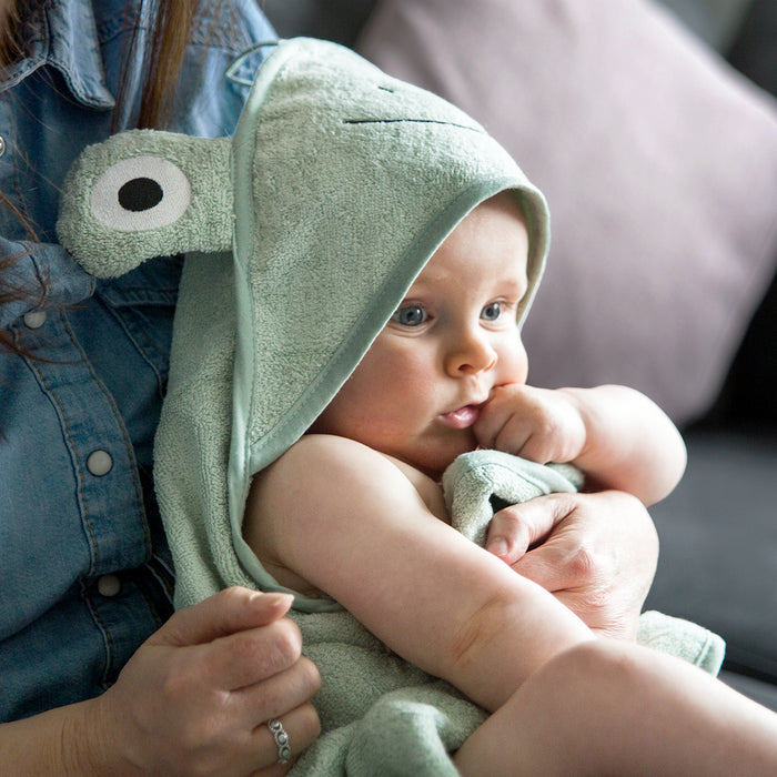 Baby Frog Hooded Cotton Towel