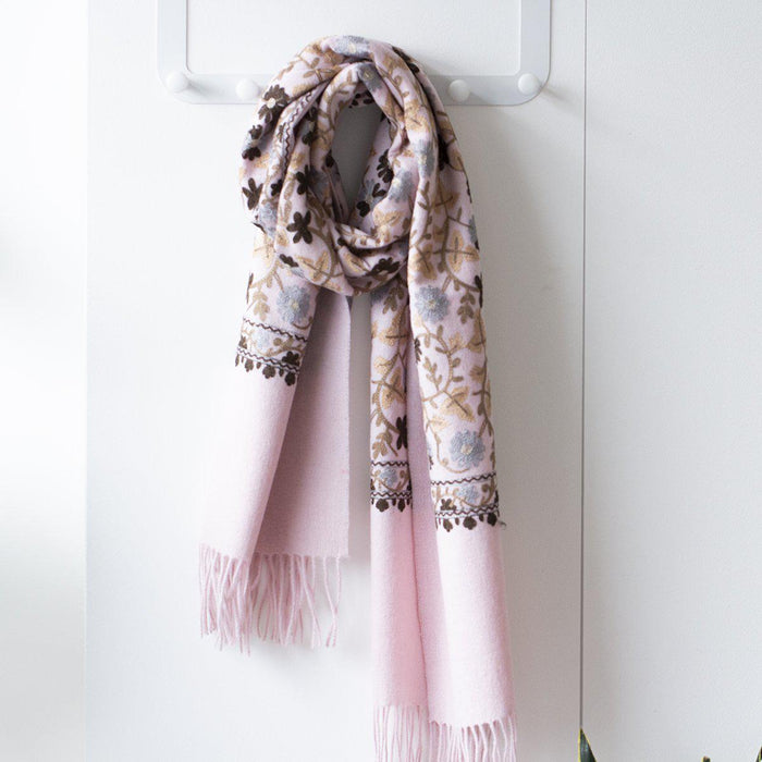 personalised-virgin-wool-floral-scarf