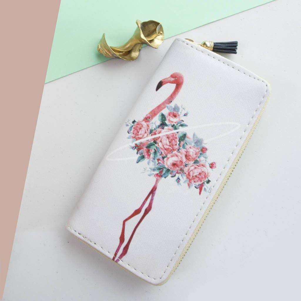 Wallet - Personalised Flamingo Party Purse Wallet