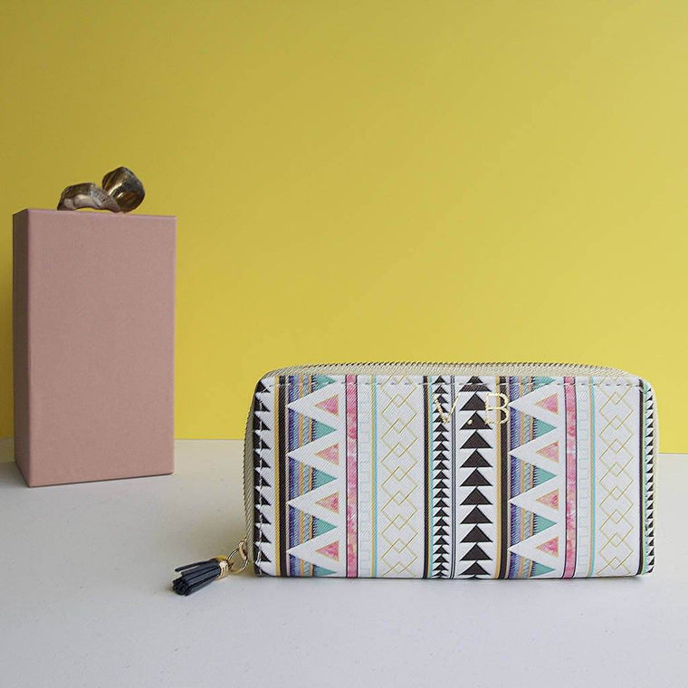 Personalised Geometric Aztec Purse Wallet