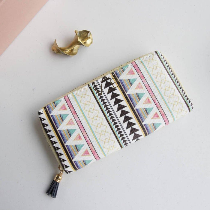 Wallet - Personalised Geometric Aztec Purse Wallet