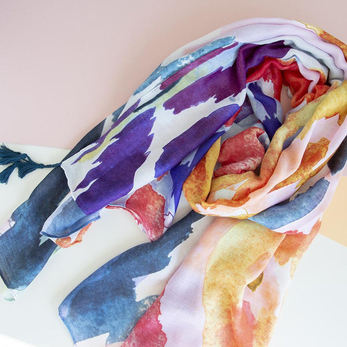 Watercolour Rainbow Scarf
