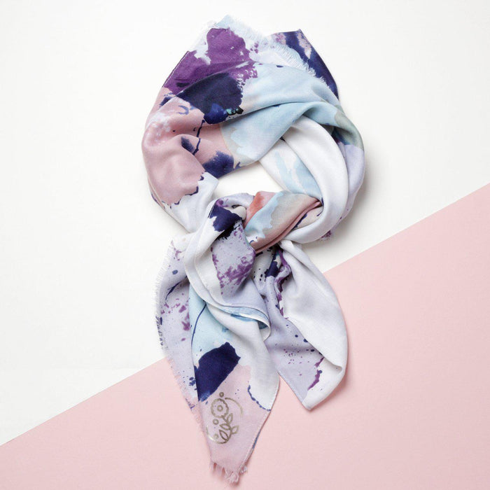 Personalised Watercolour Splash Print Scarf