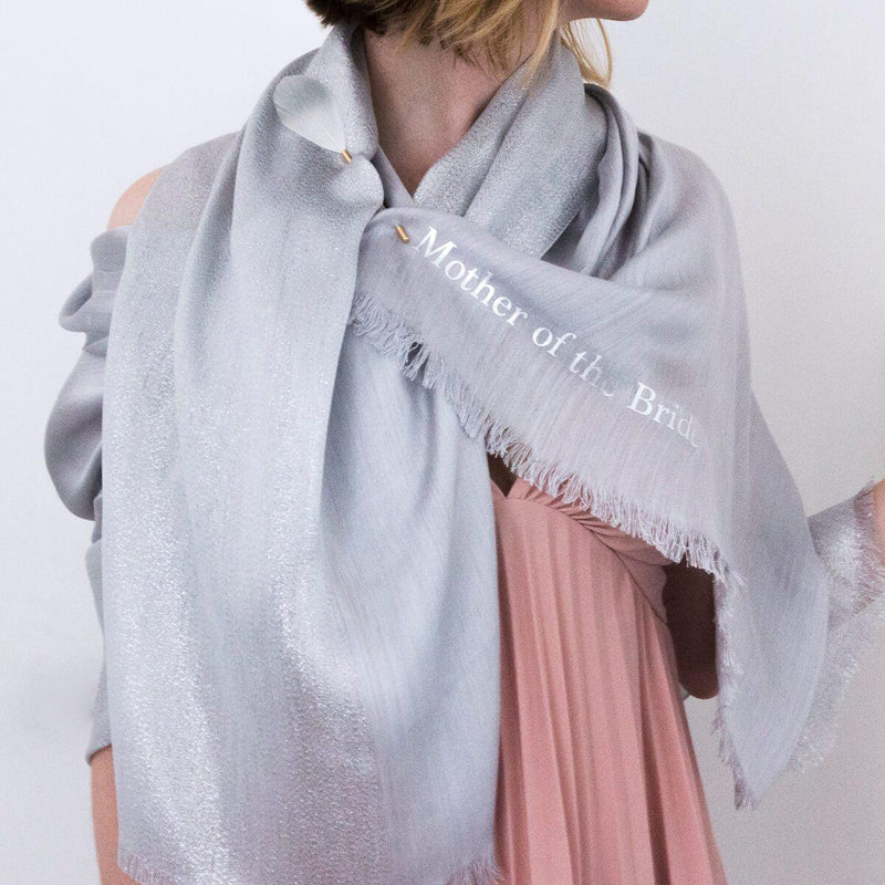 Personalised Shimmering Silk Wedding Scarf