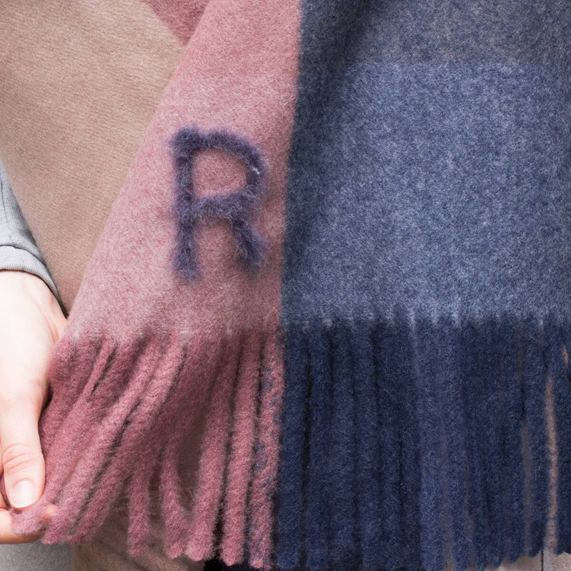 Personalised Brushed Check Blanket Scarf