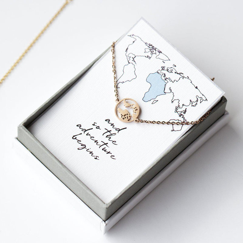 Around the World Wanderlust Necklace