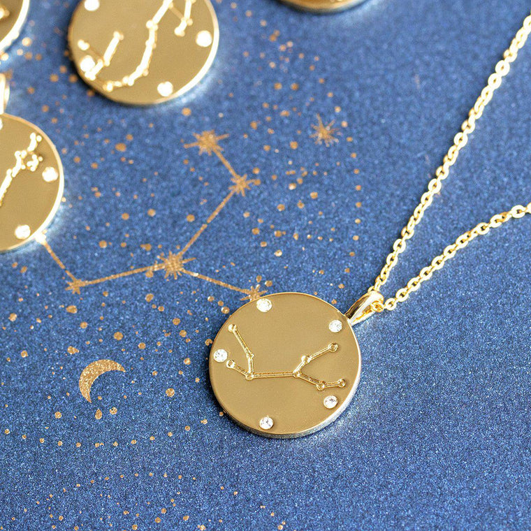Celestial Starlight Zodiac Necklace