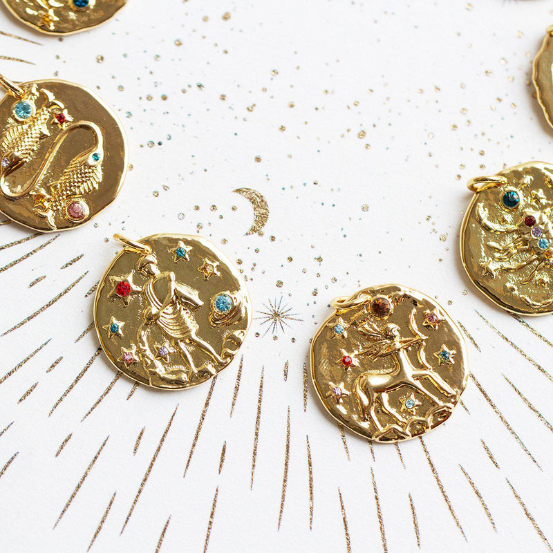 Golden Gemstones Zodiac Necklace